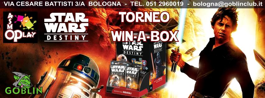Star Wars Destiny: Torneo Win-a-Box