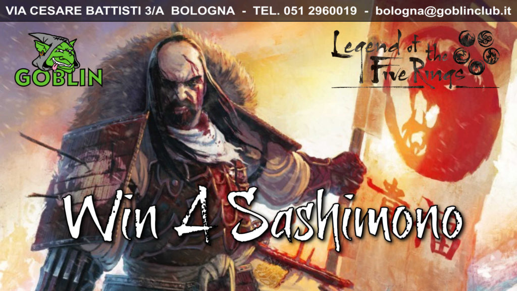 Legend of the Five Rings LCG: Torneo – Win a Sashimono