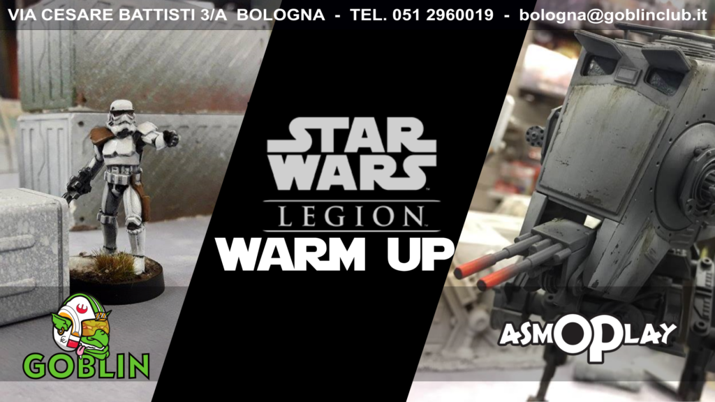 Star Wars Legion: warm up's saturday!