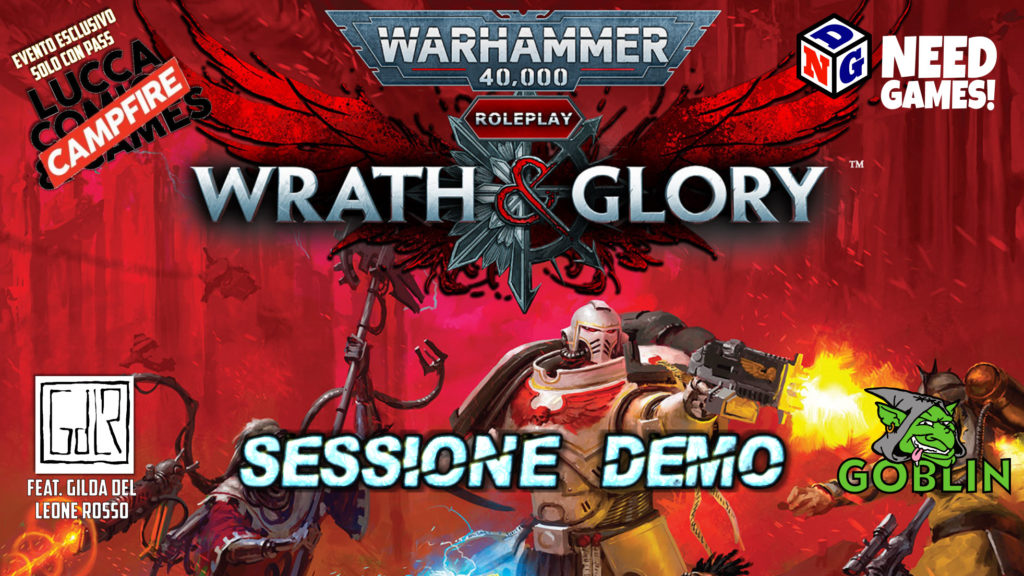 Lucca Changes: Wrath and Glory – il gioco di ruolo: demo