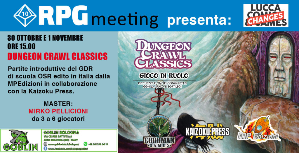 Lucca Changes: Dungeon Crawl Classics – sessione demo