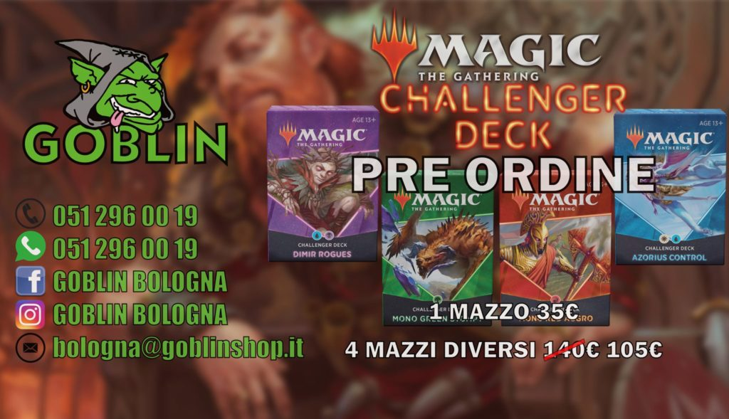 Magic: Challenger Deck 2021 – preordini aperti!