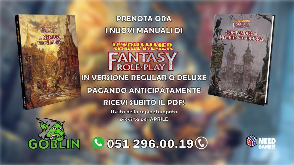 Warhammer Fantasy RPG – in arrivo Il Nemico nell'Ombra
