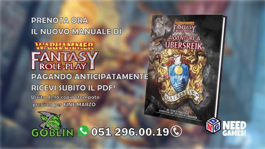 Warhammer Fantasy RPG – a fine marzo arriva AVVENTURE A UBERSREIK